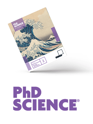 Book Cover PhD Science with logo