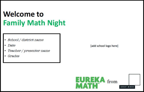 Math night eureka math