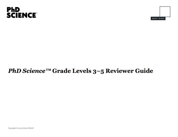 Phd science reviewer guide image